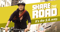 Share the Road: It's the S.A. way.