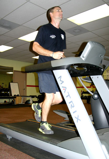 Recruit Jogging on Treadmill