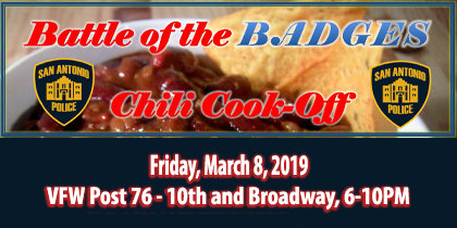 Battle of Badges: March 8, 2019. Chili Cook-off!
