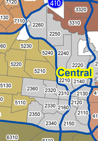Central Substation Areas