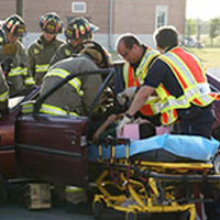 victim on stretcher